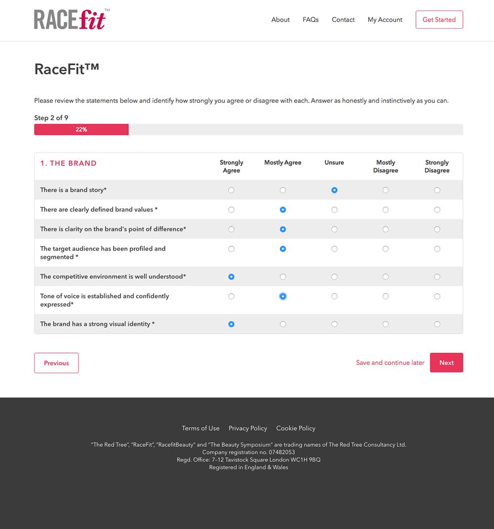 Racefit™ Questionnaire